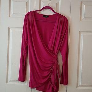 Karen Kane faux wrap blouse